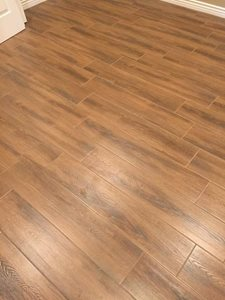 Sleek wood plank flooring