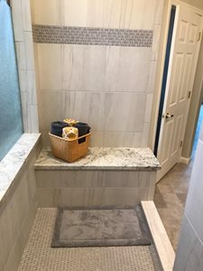 Walk in shower bench